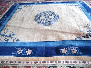 Antique Peking Chinese Rug.  size 8'3''x9'6''.  supper quality and condition.