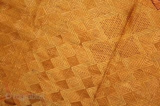 Phulkari From West (Pakistan)Punjab India Called As Vari-Da-Bagh.Rare Ghunghat Design.Floss Silk on Hand Spun Cotton khaddar.This bagh was gifted to the bride by her in-laws when she was entering their house, her  ...