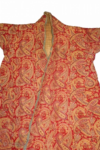 Indian Mughal Robe Roller Print from Manchester England made for Indian Market,India.Circa 1900.Royals family Rajasthan India.(DSL03870).