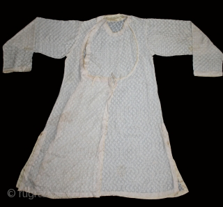 Angarakha Man(Costume)Jamdani Fine Muslin Cotton From Rajasthan India.C.1900.Worn by Royal Family of Rajasthan.(DSL03390).
