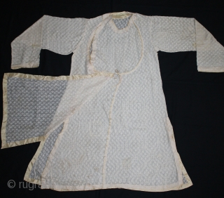 Angarakha Man(Costume)Jamdani Fine Muslin Cotton From Rajasthan India.C.1900.Worn by Royal Family of Rajasthan.(DSL03390).