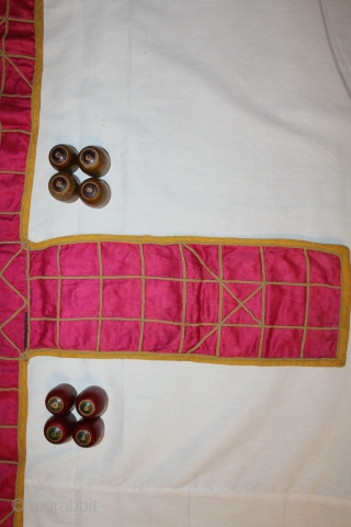 Chopat Playing Game of Chopat From Gujarat India 19th century.Very Rare kind of Chopat Good Condition(DSC00445)