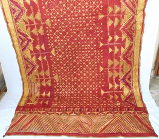 Vintage Phulkari from East (India) punjab India Called As Sarpallu,Very Rare Design of Sarapllu Phulkari.Condition Used (DSC00480)