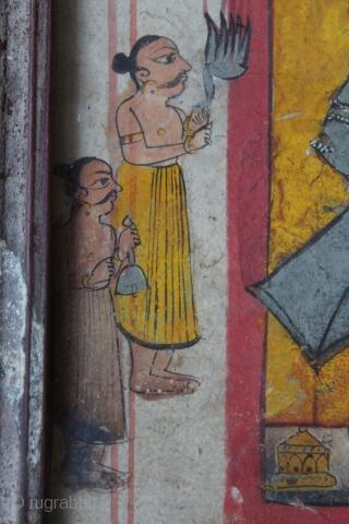 Miniature Painting of Shrinath Ji from Nathwara,Rajasthan India.Its Size is 14cmX20cm.(DSC00540).