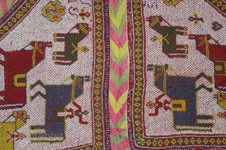 Horse Decoration Italian Beads Hand Stitch Work Base Cotton Ground From Saurashtra Gujarat India.Very Rare Piece.(DSC00580).