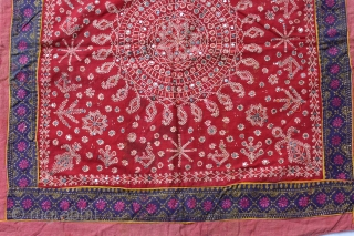 Chakla Hand Print (Cotton Khadi) From Rajasthan India.Very rare Design.Its size is 62x60cm.(DSC00630).