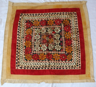 Chakla Hand Stitch Patch Work (Cotton Khadi)From Rajasthan India.Its size is 96x94cm.(DSC00640).