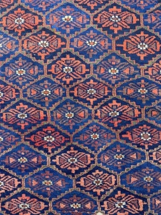 Beautiful Khorasan Baluch rug. Great colors and full pile.   7ft 1in x 4ft or 216 x 122   Let me know if you'd like more photos.  Cheers!