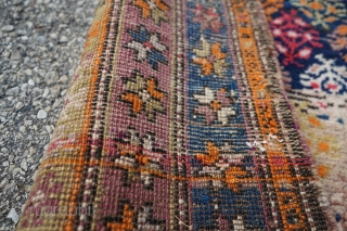 Antique Caucasian Karabagh Rug. 7ft 6in x 3ft 7in