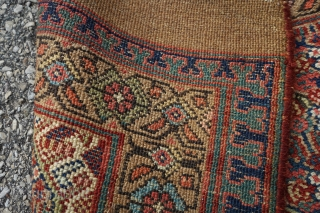 Antique camel wool Sarab Runner, dated 1874. Beautiful colors and lattice design. Rare with the date.