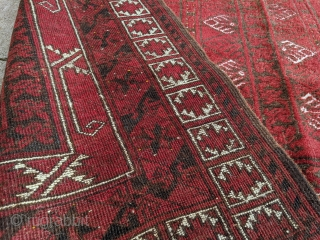 Beautiful 1920's Afghan Purdah / Ensi from the village of Chakesh. Great soft wool with wonderful sheen. One small 1in hole. Hard to capture the colors right in photos because of the  ...