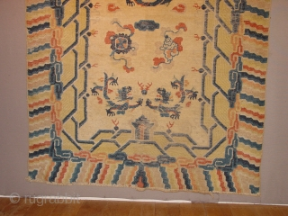 wonderful 160 y old chinese beijing carpet,
