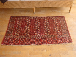 wonderful super fine 19th century turkoman chuwal, one square inch repiling, wonderful natural colors, not washed yet, silky feeling wool  126x75cm 4.2x2.5ft  ON EBAY NOW