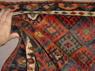 wonderful top jaff kurdish bagface, wonderful silky wool, great natural colors, all ends secured , clean, no tears, no holes, no stains, collectors piece  70x101cm 2.3x3.4ft
