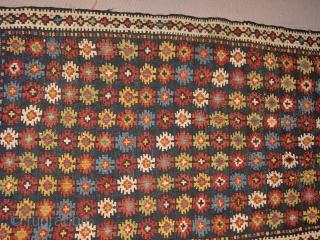 In mint condition, antique Azeri? kilim flatweave panel 49x87cm 1.6x2.9ft