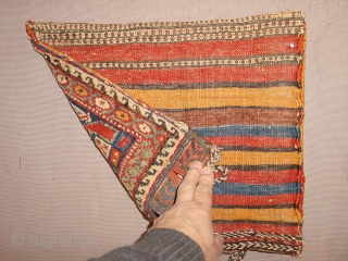 wonderful antique afshar chanteh with Original back in great condition and wonderful natural colors