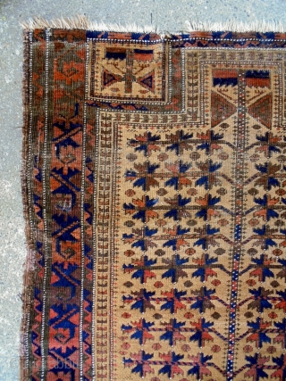 Baluch Prayer Rug Size: 83x143cm Natural colors, made in period 1910