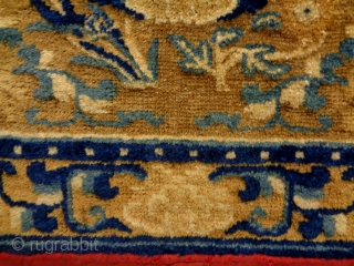 Early 19th Century Chinese Ningxia  Size: 68x65cm Natural colors