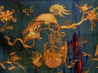 19th Century Early Chinese Textile Size: 187x50cm
