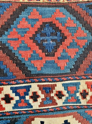 Shahsevan kilim bag 1880 circa all good colors and in good condition Size 56x53cm