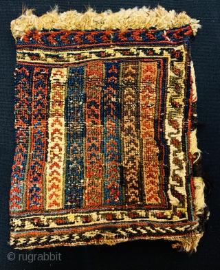 Afshar Soumac Spoon bag 1890 circa,All good colors---Size 30x25cm