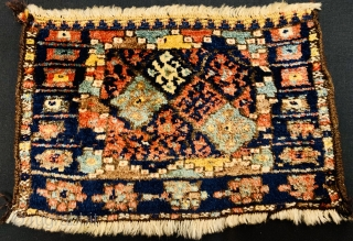 Jaf bagface very tribal design and high wool 1880 circa in perfect condition•••size63x41cm
