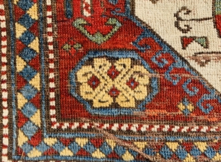 Kazak LoriPampak 1870 circa,in as found condition. available as is.with worn out areas but no restoration,254x150c