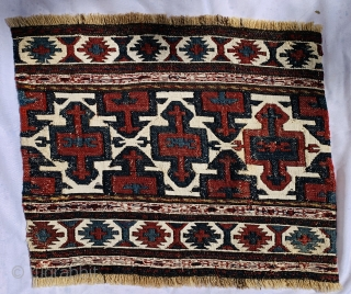 very fine Shahsevan Hashtrud Miyaneh sumak Mafrash Panel 1870 circa,size 40x50cm