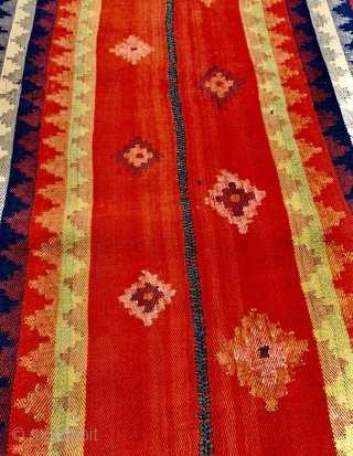 Qashqai jajim 1880 circa 100% on wool with rich vegtable colors and very good condizioni-size 300x175cm