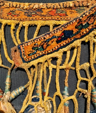 AFSHAR,animal trapping 1880 circa to decorate horse chest.size66x8 with fringes37cm