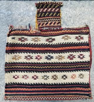 Beautiful Persian Luri Qashqai Saltbag wool on wool size~72x63cm