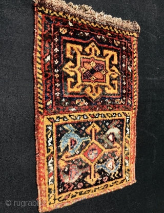 2 face Khamseh small bag 1880 circa-size>25x33cm