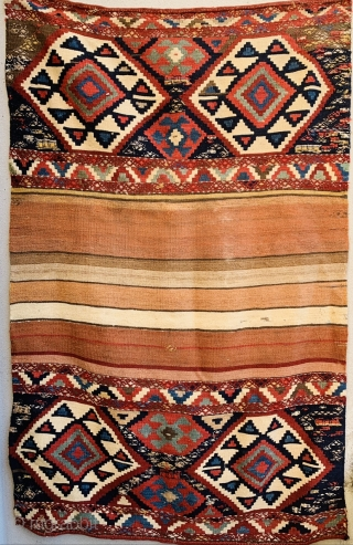 complete Shahsevan Mafrash with embroidered animals design, 1880 circa good condation and all good colors.