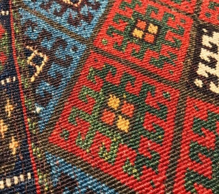 Kurdish Jaf 1880 circa with beautiful natural colors and good condition wool on wool>>size65x48cm