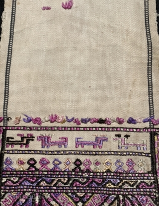 Baluch decorative silk soumac on cotton 1900 circa size 32x15cm