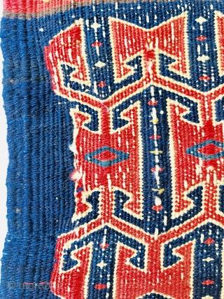 Afshar Mafrash panel all good colors 1880 circa,size 65x25cm