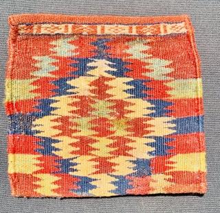Very fine Qashqai chanteh 1870 circa all good colors 100%on wool size38x22cm