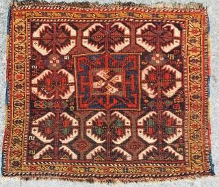 Khamseh bagface,1880 circa,size60x68cm