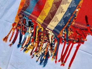 Qashqai jajim 1880 circa 100% on wool with rich vegtable colors and very good condizioni-size 300x175cm