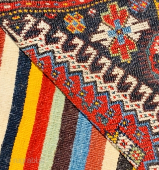 Qashqai bag 1880 circa all good colors ,size 114with kilimx60cm