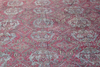 Antique Oushak Rug,Second Quarter of 19th C.Oushak Over size rug. Size: 18' X 16' Feet. Please Feel free to ask any question you want