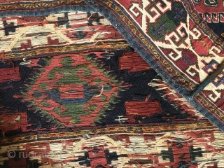 shahsavan hamamlu tribes Sumac mafrash in great condition,115x50 cm bottom kilim size