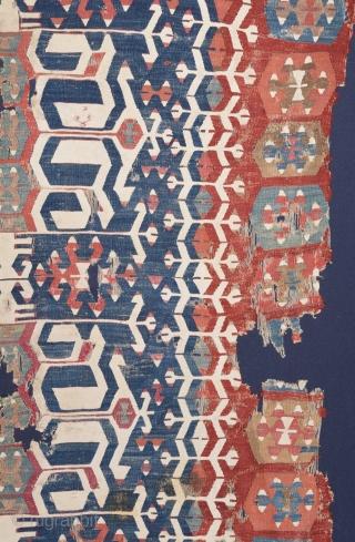 18th Century West anatolian Kilim size 165x360 cm
