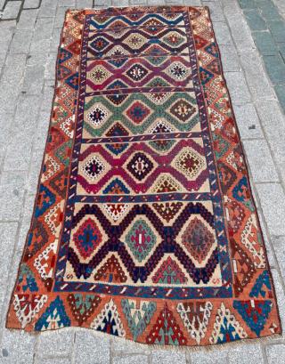 Early 19th Century Sivas Rug size 123x252 cm