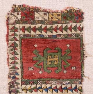 Mid 19th Century Central Anatolian Yastik Fragment size 33x64 cm