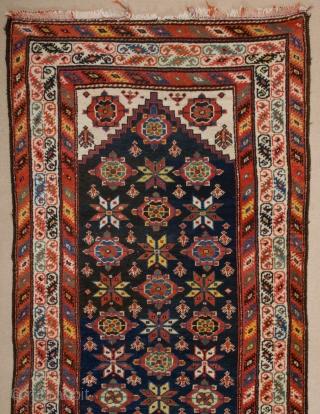 Late 19th Century Persian Kurdish Runner 108x345 cm
