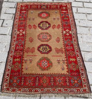 Persian Bidjar Kurd Rug circa 1880 size 113x170 cm
