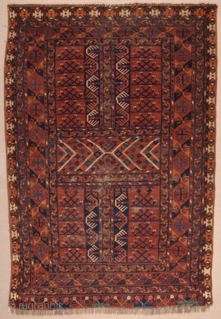 Mid 19th Century Turkmen Ersari Engsi circa 1850 size 130x190 cm