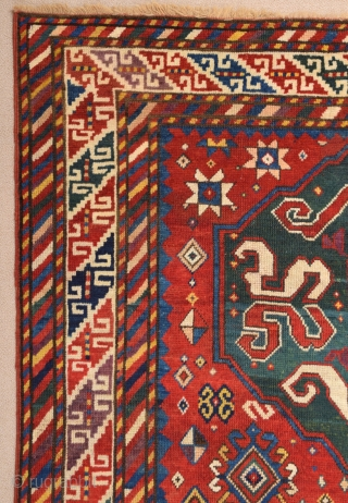 Caucasian Cloudband Rug dated 1281/1864 size 135x281 cm