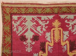 Central Anatolian Kirsehir Rug circa 1870 size 97x167 cm